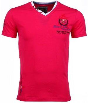 David Mello Italiaanse T-shirts - Korte Mouwen Heren - Riviera Club - Roze