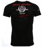 David Mello Italiaanse T-shirts - Korte Mouwen Heren - Riviera Club - Zwart