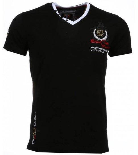 Mouwen Italiaanse T Zwart Heren David Club Riviera Korte Mello Shirts PpxXw