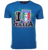 Mascherano T-shirt I Love Italia - Blauw