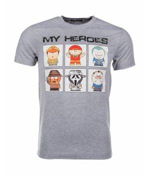Mascherano T-shirt My Heroes - Grijs