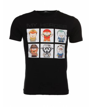 Mascherano T-shirt My Heroes - Zwart