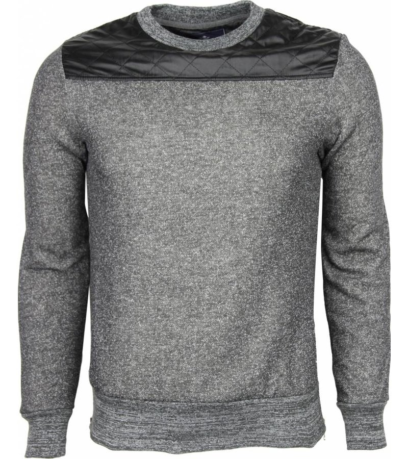 New-Star Sweater - Kunstleer Schouder Blanco Heren - Grijs