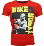 Mascherano T-shirt - Mike Tyson Glossy Print - Rood
