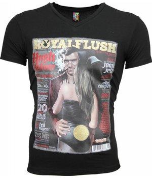 Mascherano T-shirt - Royal Flush Glossy Print - Zwart