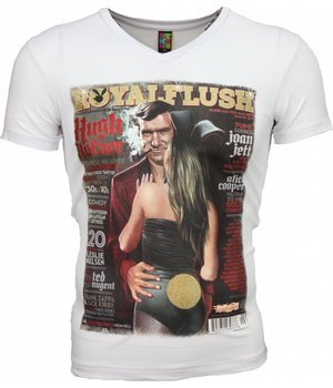Mascherano T-shirt - Royal Flush Glossy Print - Wit