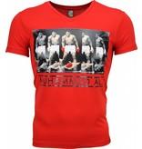 Mascherano T-shirt - Muhammad Ali Panorama Print - Rood