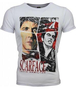 Mascherano T-shirt - Scarface Frame Print - Wit