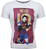 Mascherano T-shirt - Messi 10 Print - Wit