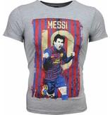 Mascherano T-shirt - Messi 10 Print - Grijs