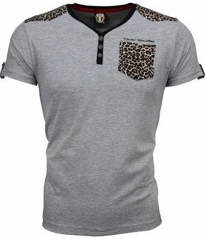 David Mello T-shirt - Tijger Print Motief - Grijs