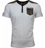 David Mello T-shirt - Tijger Print Motief - Wit