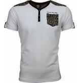 David Mello T-shirt - Tijger Print Motief - Wit