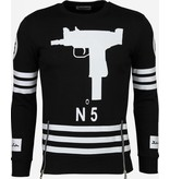 Gov-Denim No 5 Uzi Sheitan - Sweater - Zwart