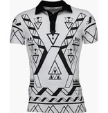 KariQu Casual Polo - Geometry - Wit