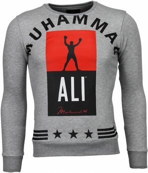 Local Fanatic Muhammad Ali Stars - Sweater - Grijs