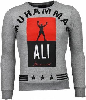 Local Fanatic Muhammad Ali Stars - Sweater - Grijs