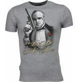 Local Fanatic Godfather Print - T-shirt - Grijs