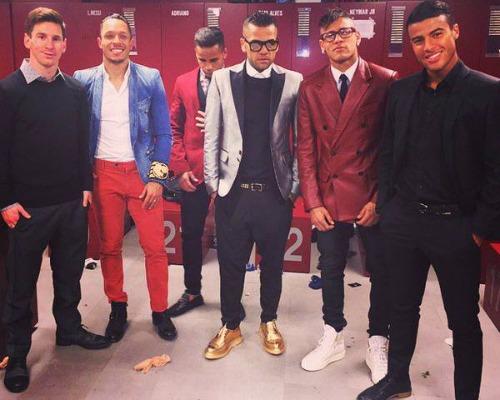 Messi zonder kledingsmaak