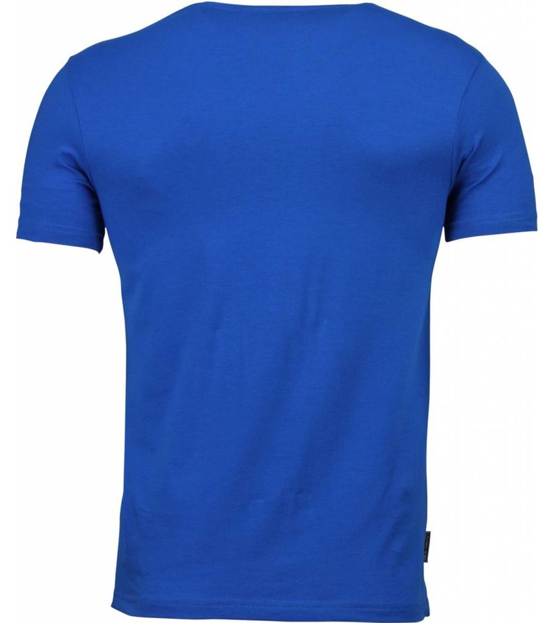 Local Fanatic T-shirt - The Ladies Love Me Print - Blauw