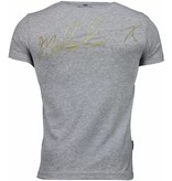 Local Fanatic Malcolm X - T-shirt - Grijs