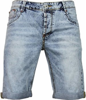 Gianni Lupo Korte Broeken Heren - Slim Fit Denim Washed - Blauw