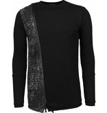 Enos Long Tee Zipper - Sweater - Zwart