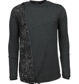 Enos Long Tee Zipper - Sweater - Donker Grijs