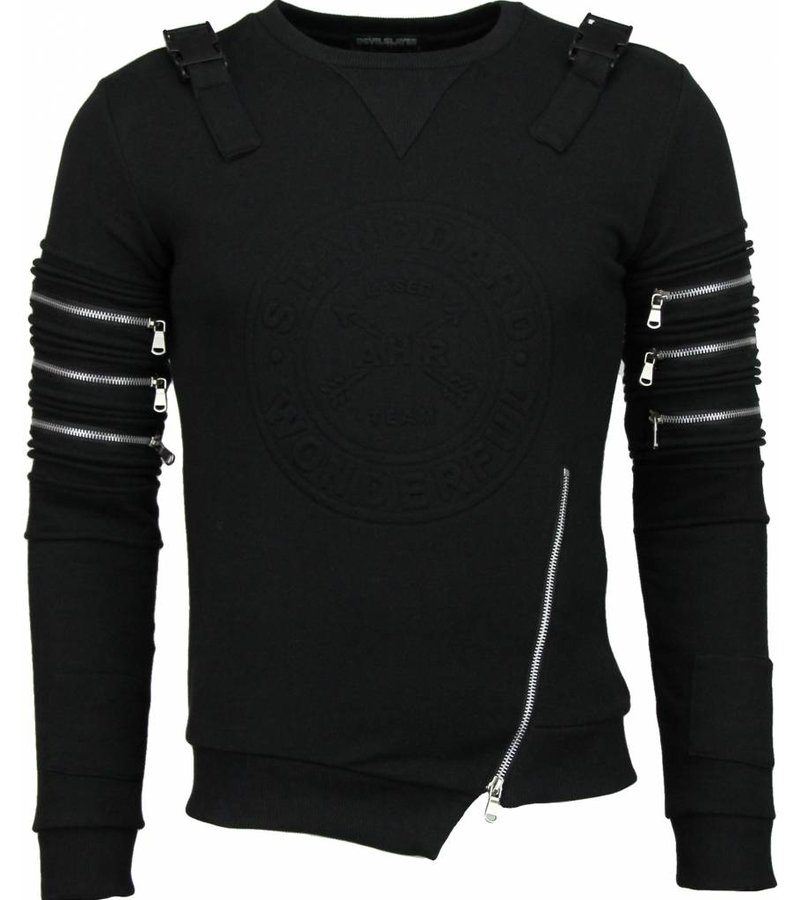 Devil Slayer Laser Team - Sweater - Zwart