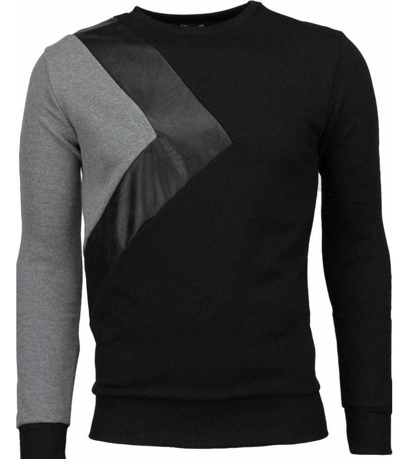 Enos Triangle Style - Sweater - Zwart