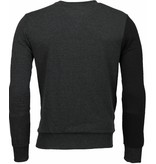 Enos Triangle Style - Sweater - Donker Grijs