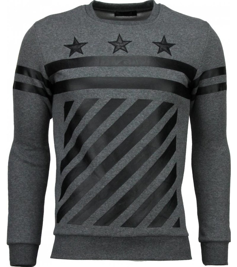 Maximal Star Stripes - Sweater - Grijs
