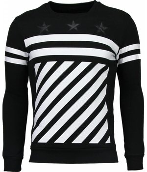 Maximal Star Stripes - Sweater - Zwart