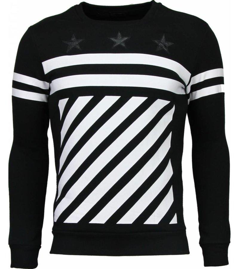 Maximal Star Stripes - Sweater - Zwart