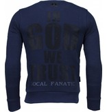 Local Fanatic Trust In My Power! - Rhinestone Sweater - Navy