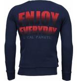 Local Fanatic Bilzarian - Rhinestone Sweater - Navy