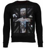Local Fanatic Mayweather - Rhinestone Sweater - Zwart