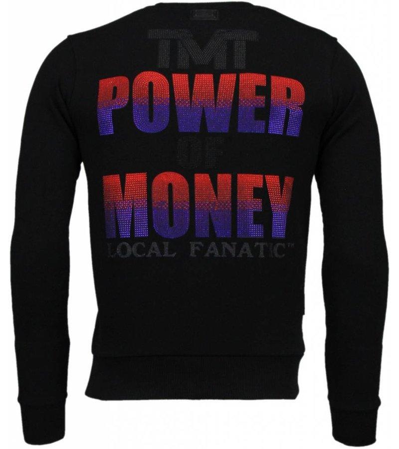 Local Fanatic Mayweather - Rhinestone Sweater - Zwart