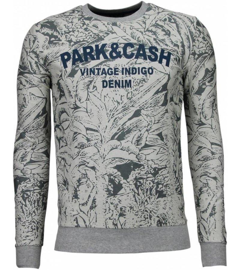 Black Number Park&Cash - Sweater - Grijs