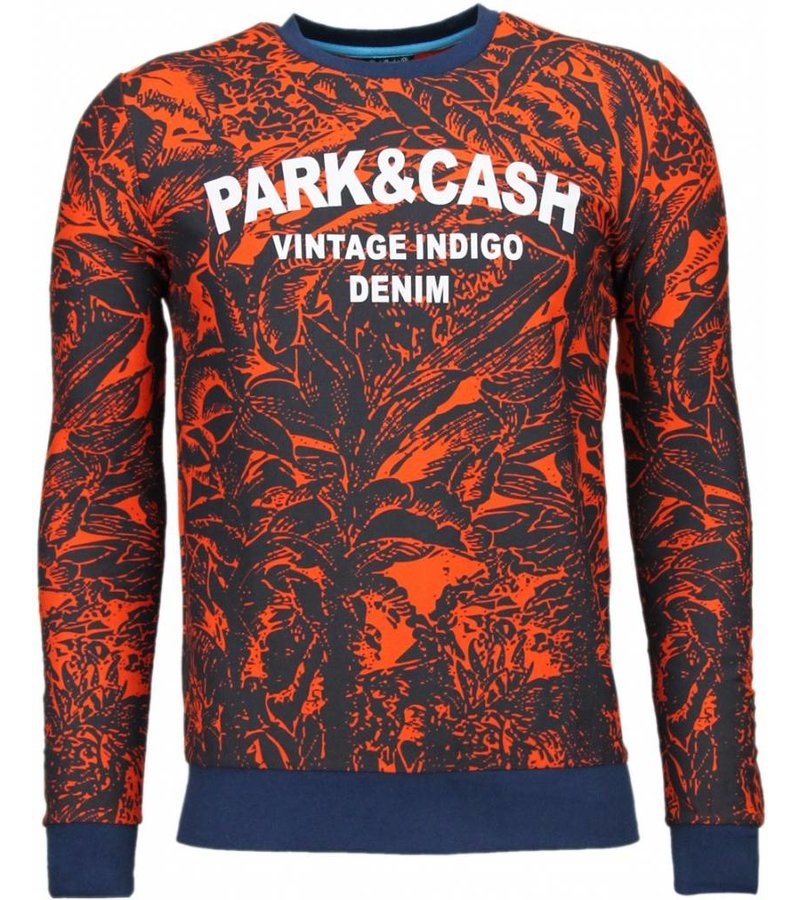 Black Number Park&Cash - Sweater - Oranje