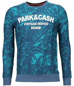 Black Number Park&Cash - Sweater - Groen