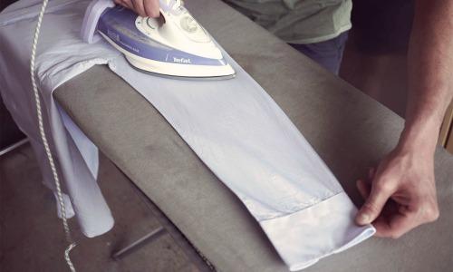 Overhemd strijken met of zonder vouw