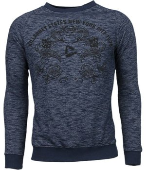 Enos New York City Print - Sweater - Blauw