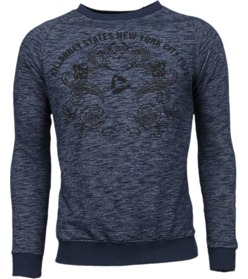 Enos New York City Print - Sweater - Blauw