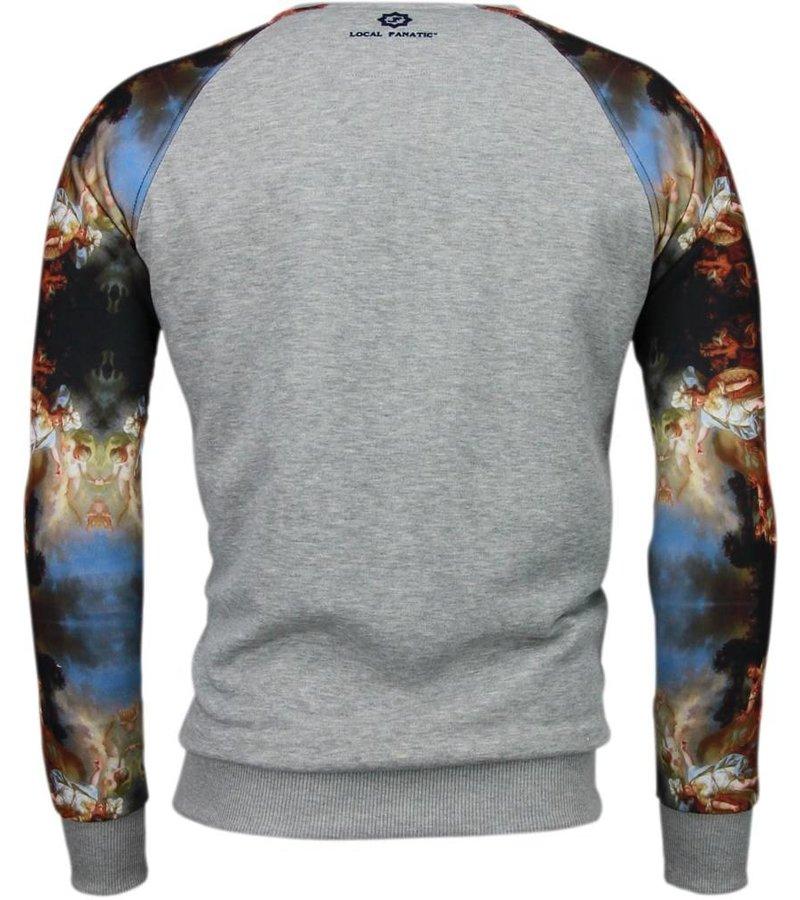 Local Fanatic Mythologie Arm Motief - Sweater - Grijs