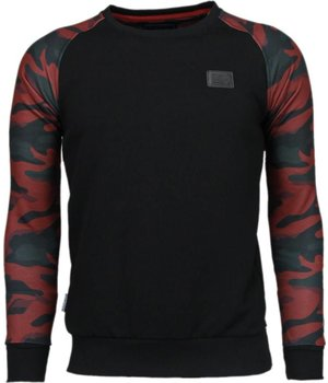 Local Fanatic Leger Arm Motief - Sweater - Zwart