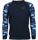 Local Fanatic Leger Arm Motief - Sweater - Navy