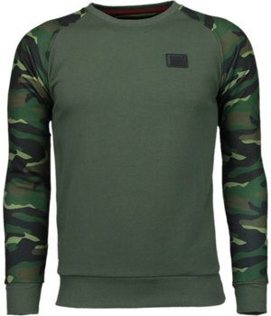 Local Fanatic Leger Arm Motief - Sweater - Leger Groen