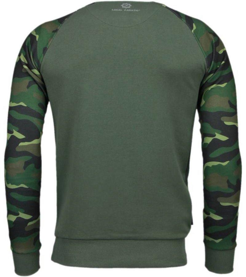 Local Fanatic Leger Arm Motief - Sweater - Leger Groen