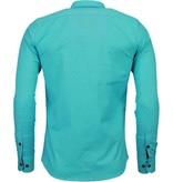 Gentile Bellini Italiaanse Overhemden - Slim Fit Blouse - Bright Stars - Mint Groen